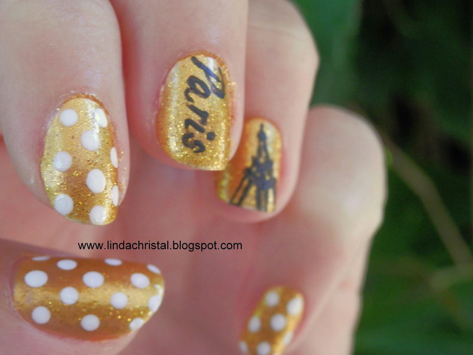 Crazy About Nails Jaime Paris Golden Paris Nails