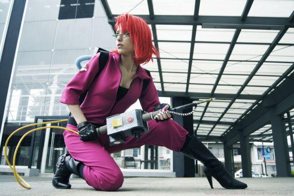 Angela Bermúdez deviantart incríveis cosplays filmes games linda nerd Janice (Ghostbusters)