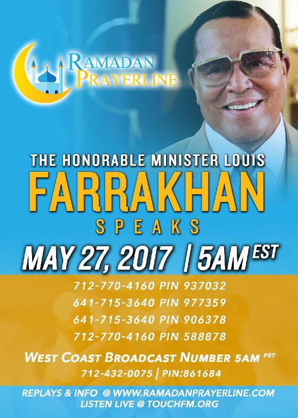 Holy Month of Ramadan Prayerline