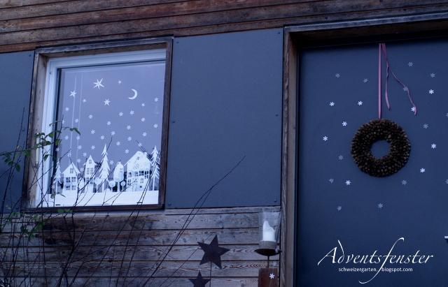 Ein schweizer garten das adventsfenster - Adventsfenster gestalten ideen ...