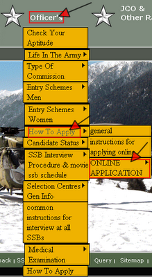 Indian Army TGC Recruitment 2013 Online Form