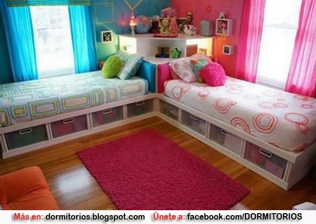 Dormitorios para ni o y ni a decoracion de dormitorios for Cuartos para nina y nino