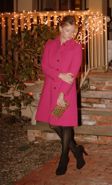 cold night out, Gap, little black dress, LBD, JCrew coat, black and gold, birthday dinner