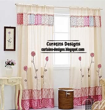 Sew chintz curtains, pink curtain for girls room