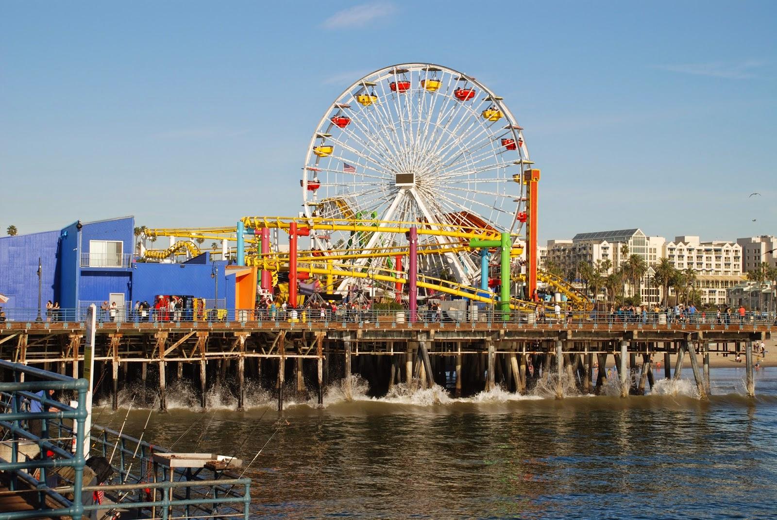 Pacific Park em Santa Monica, Los Angeles, na Califórnia