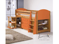 Orange Cabin Midsleeper Bed on Mattressman.co.uk