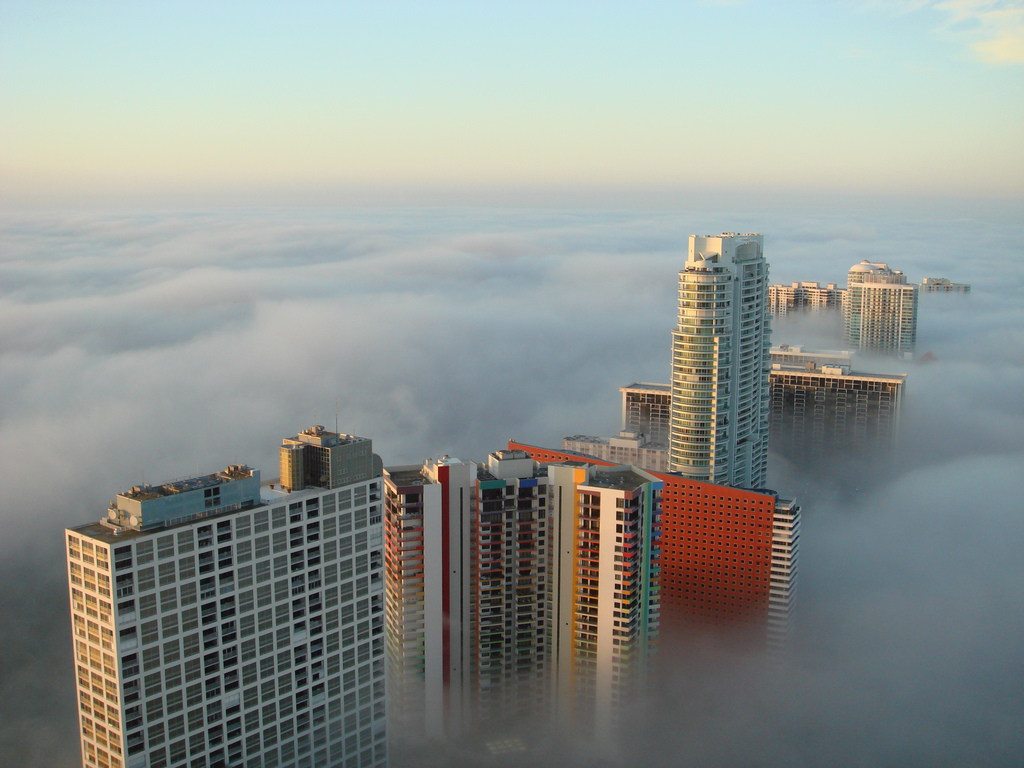 World Of Architecture Cities Being Eaten By Fog Serie 1