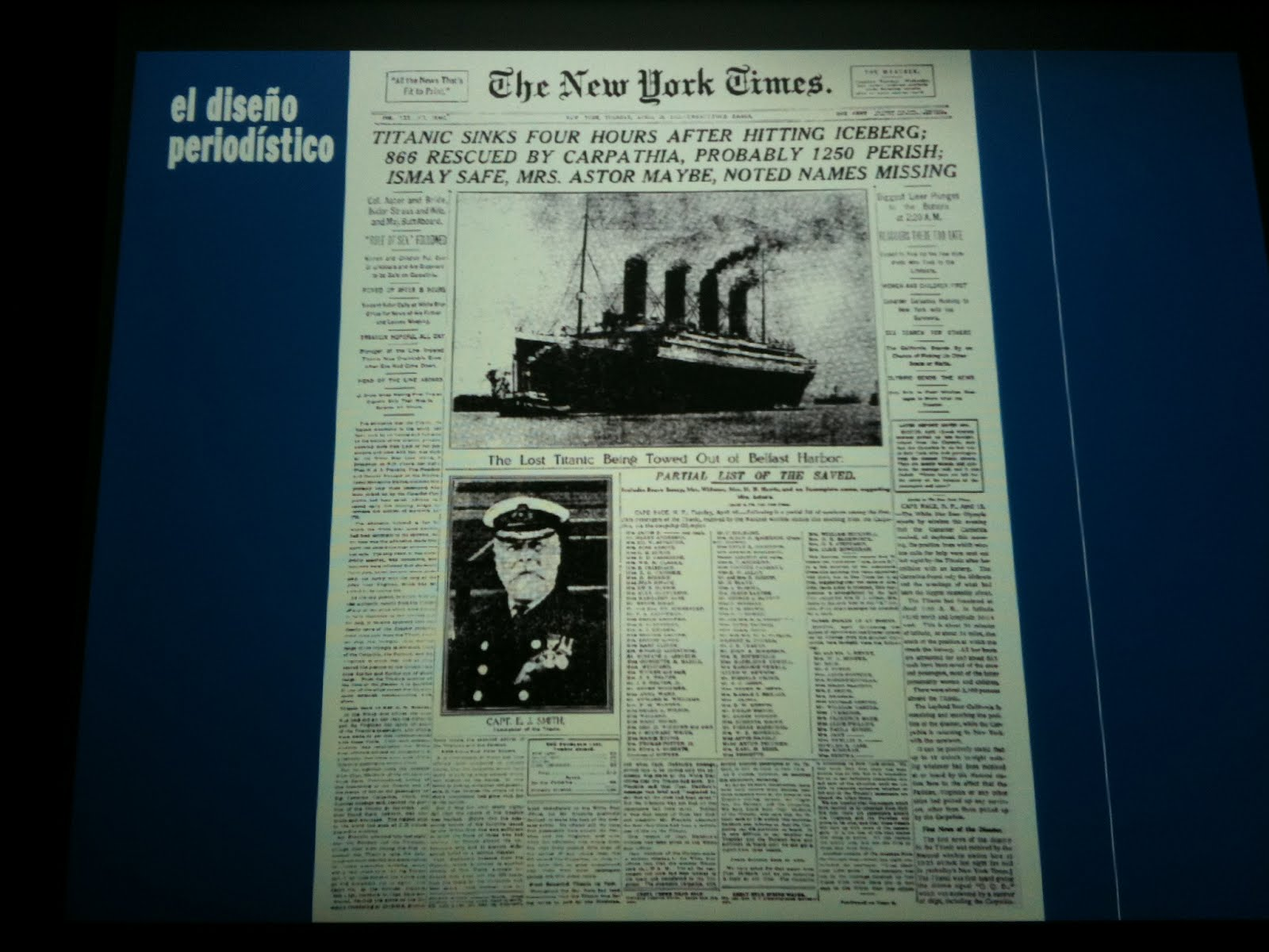 encajabaja | Diseño periodístico, Prensa: Noticias del \'Titanic\'