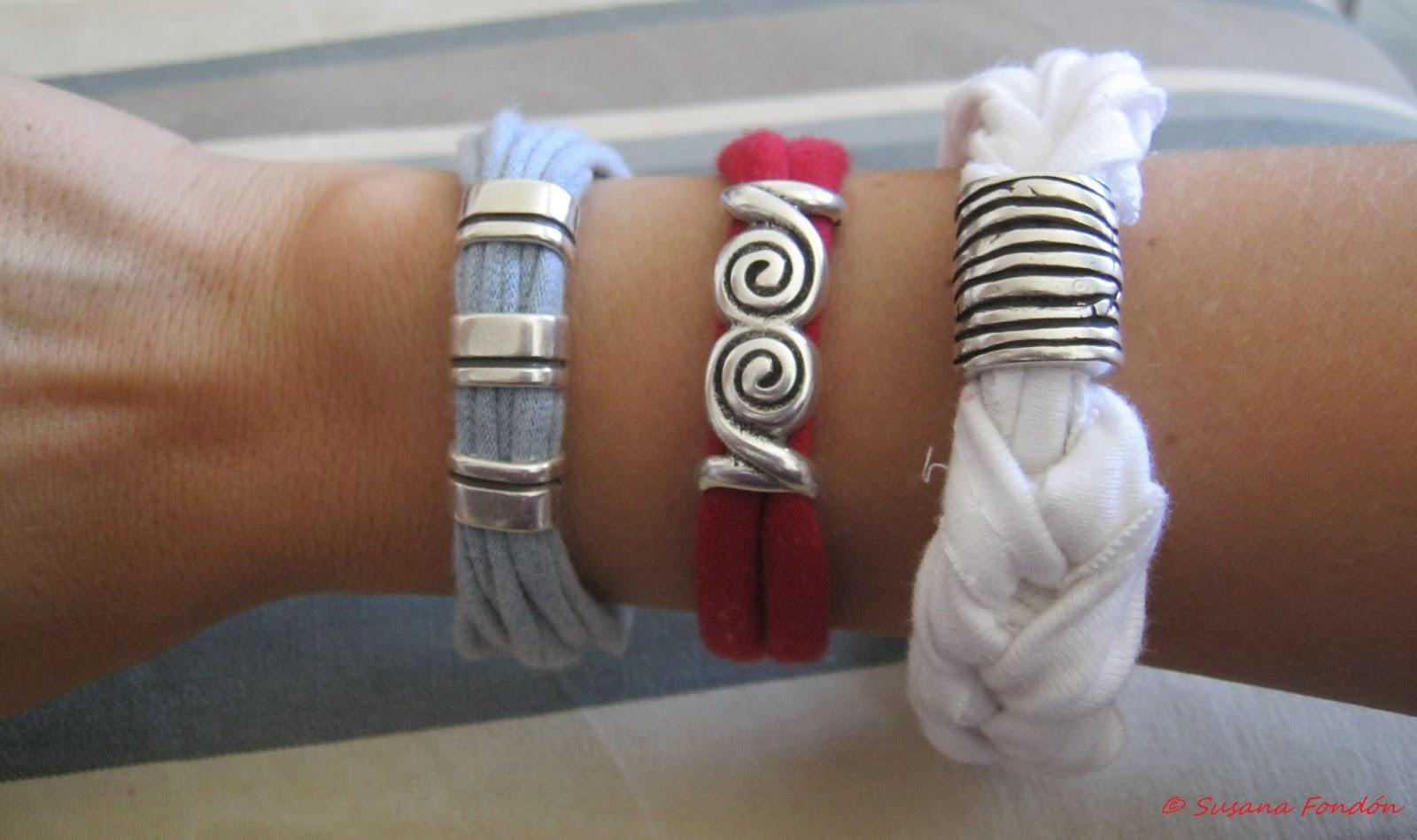 Knit 1 purl 1 or 2 pulseras de trapillo - Como hacer trapillo ...