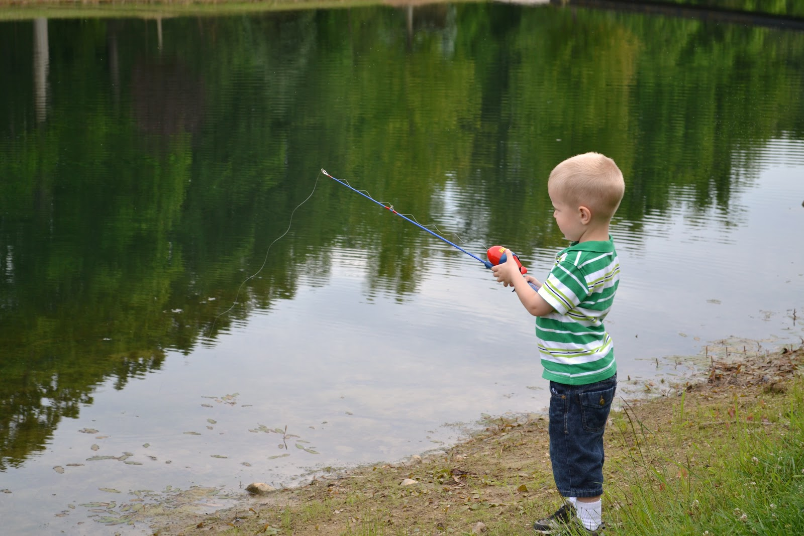 Saints scissors adventures with boys for Little boy fishing