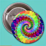 Digital Rainbow Spiral Button