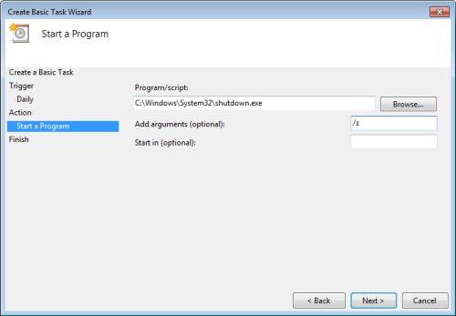 windows7 start a program Cara Membuat Windows 7 Startup Dan Shutdown Terjadwal