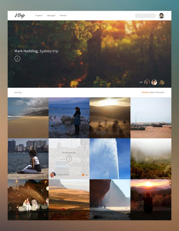 Freebie psd: Travel video book