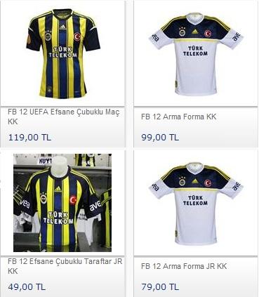 Fenerbahçe formalarını satın al, Fener Formaları