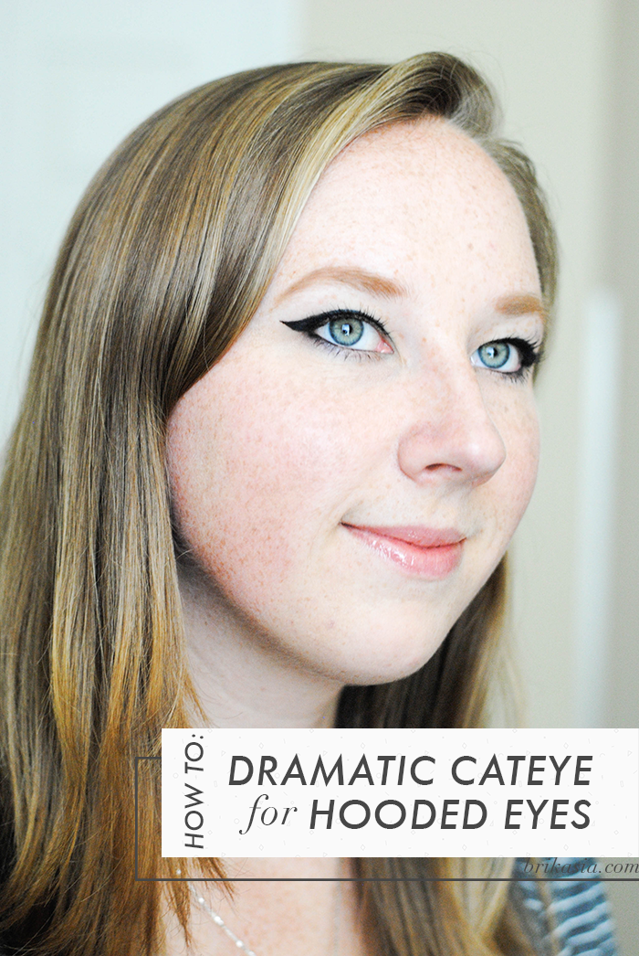 how to do a dramatic cate eye on hooded eyes, makeup tips for hooded eyes, hooded eye makeup tutorial, winged eyeliner for hooded eyes, graphic eyeliner tutorial