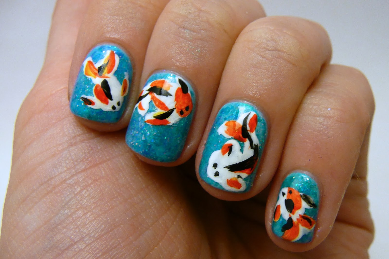 Casa de Polish: As Seen on Pinterest: Koi Goldfish Nails