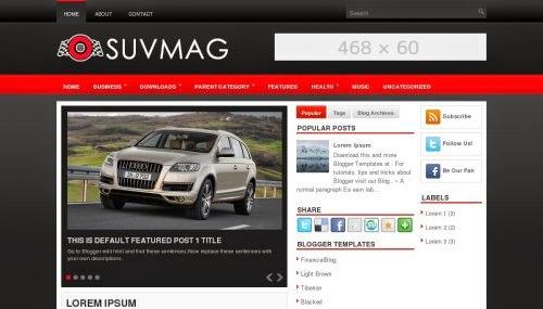 SuvMag - Free Blogger Template