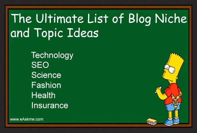 The Ultimate List of Blog Niche and Topic Ideas : eAskme