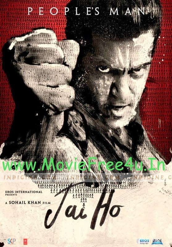 Poster of Jai Ho (2014) NR DVDRip Hindi Movie bollywood  free download at moviefree4u.in