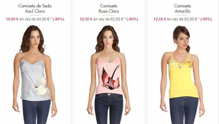 Camisetas de tirantes de Custo Barcelona