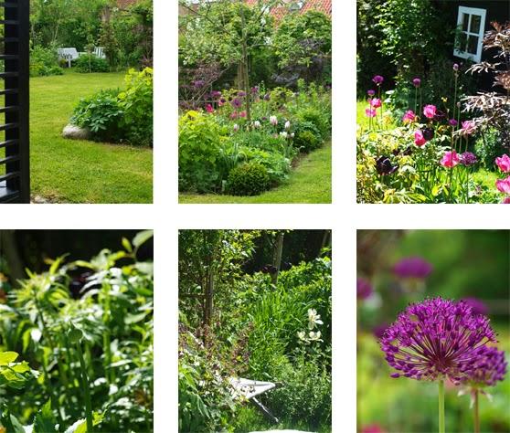 Have med frodighed, mange siddepladser og blomsterrigdom