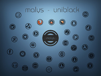 malys uniblack icon theme