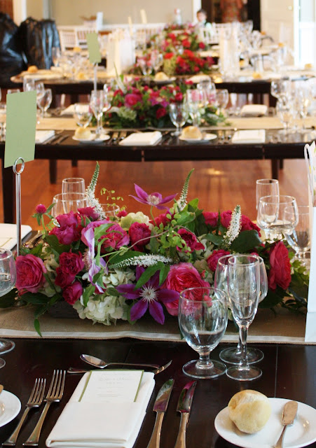 Highlands Country Club Card Reception Centerpiece - Splendid Stems Event Florals