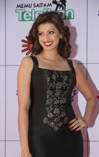 Actress Hamsa Nandini Latest Pictures in Long Dress at Memu Saitam Dinner with Stars Red Carpet 12