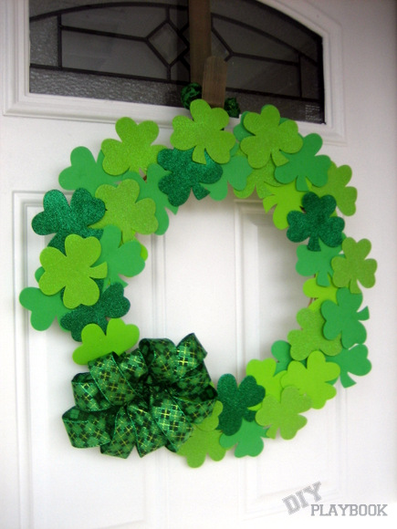 Finished product: A Simple DIY Wreath for St. Patrick's Day | DIY Playbook