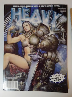 Oscar Chichoni illustraton censored and uncensored of Heavy Metal Magazine January 2002