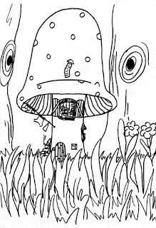 Desenho de cogumelo para colorir