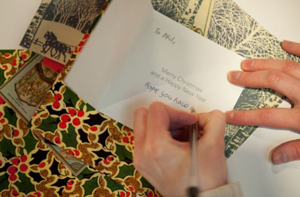 what to write in christmas cards with hand writing card