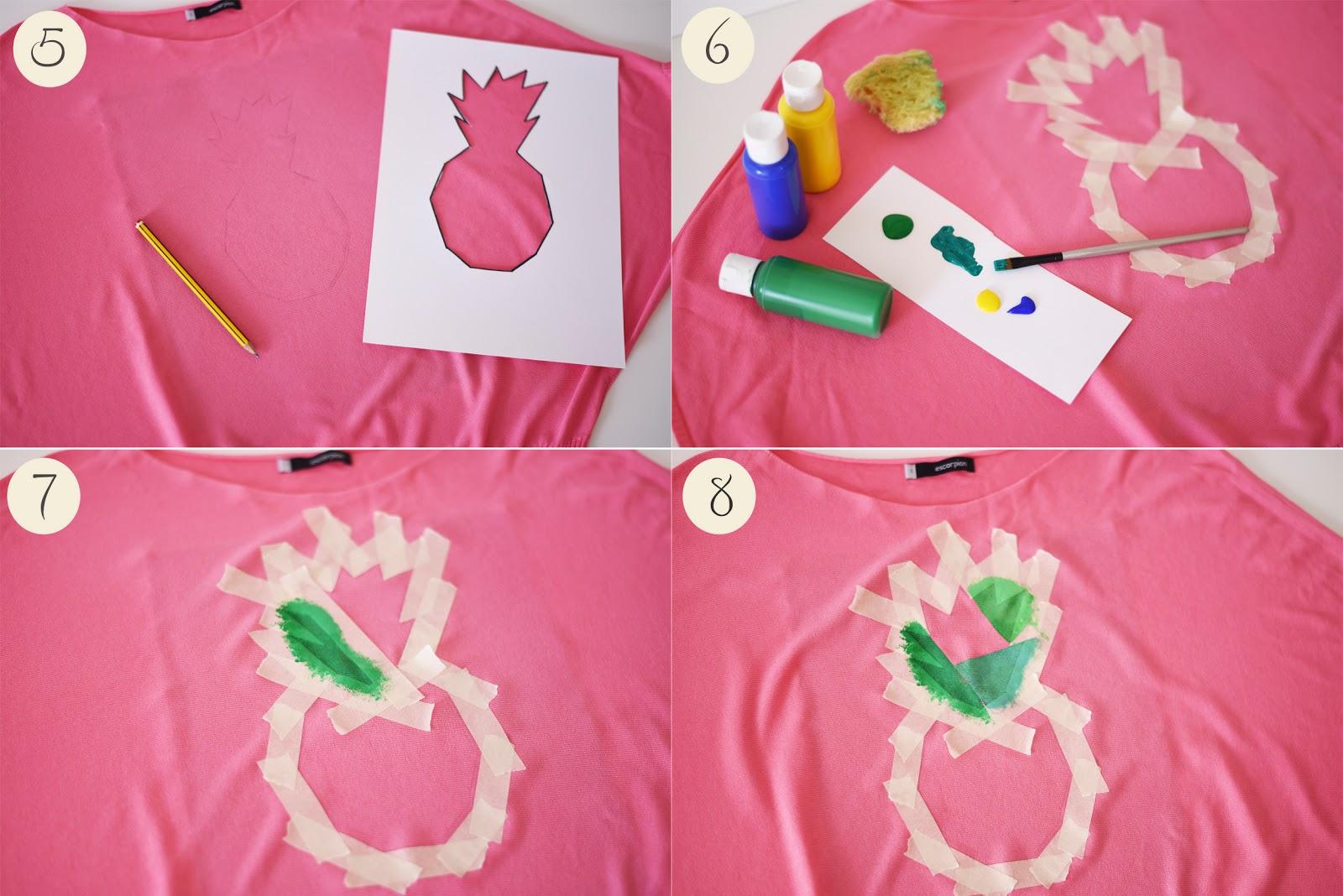 diy pineapple print top