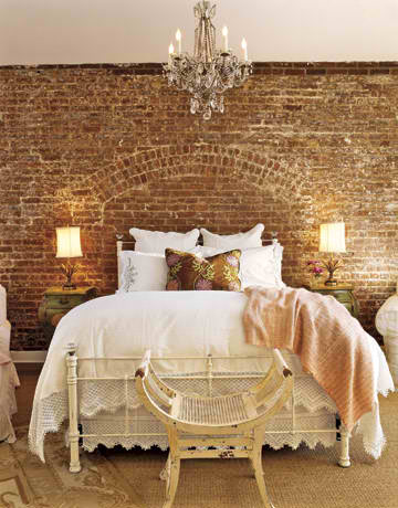 Fabulous Bedrooms with stone wall