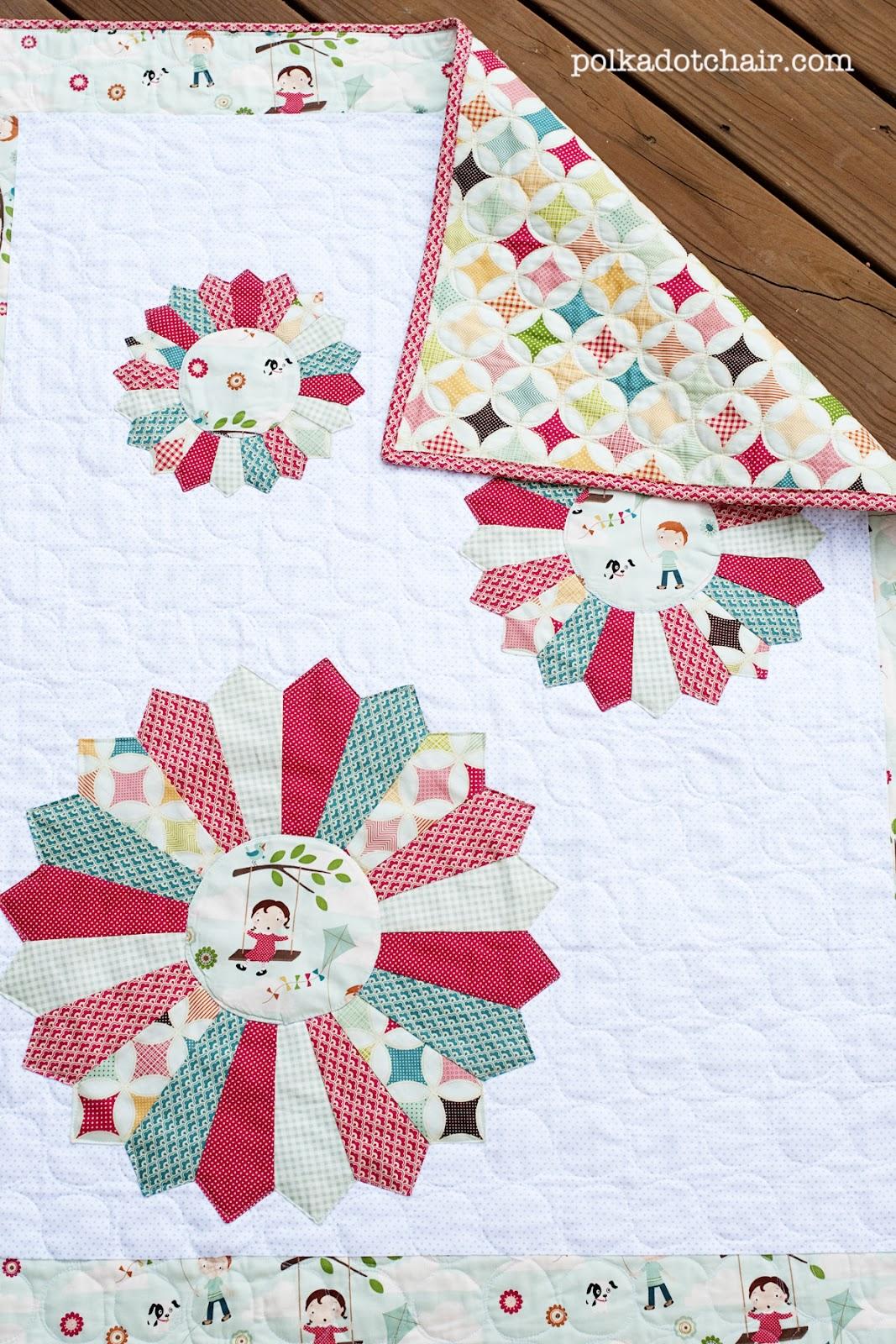 Dresden Burst Baby Quilt Pattern for Riley Blake Designs - The Polkadot Chair