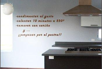 Arte y vinilos baratos adhesivos para cocinas for Vinilos adhesivos pared baratos