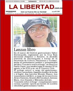 Diario La Libertad, reporta el lanzamiento del libro