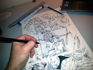 comic book art portfolio submission