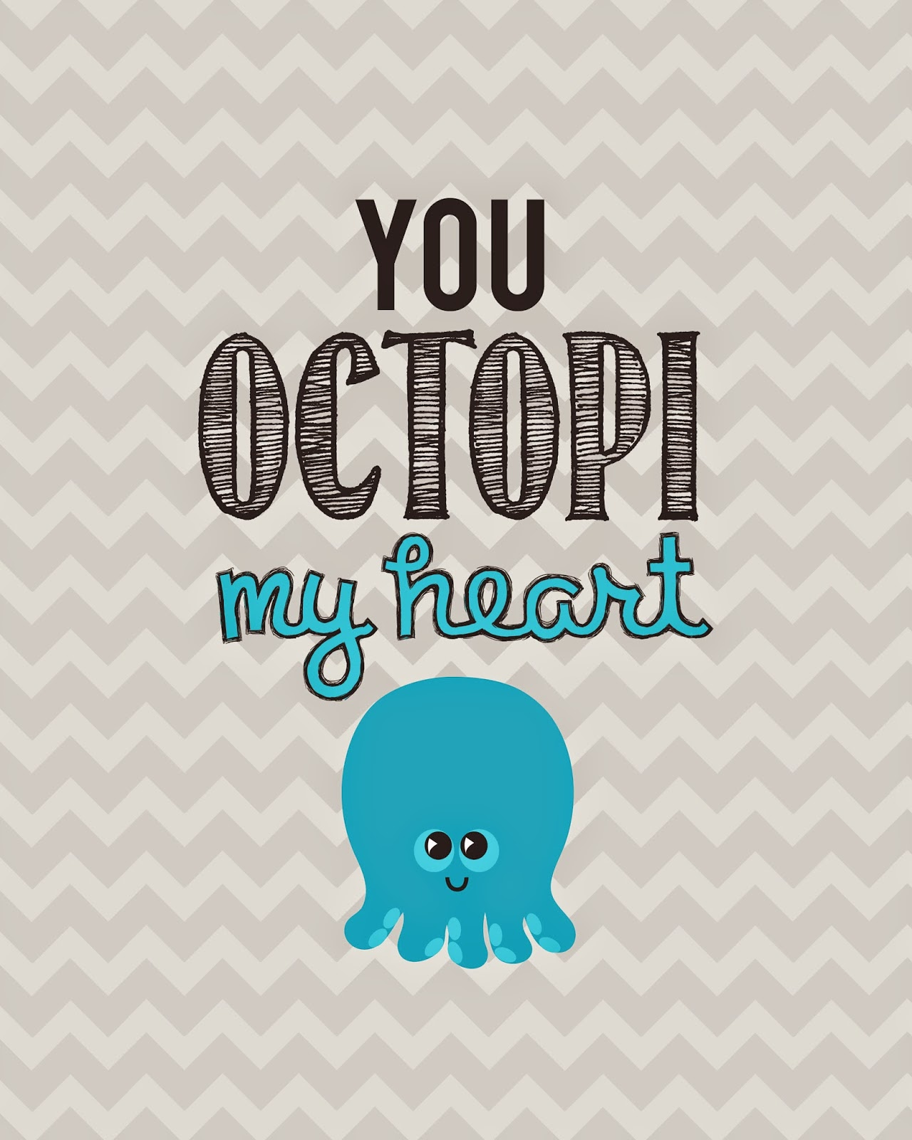 You Octopi My Heart baby printable from Craftastical!