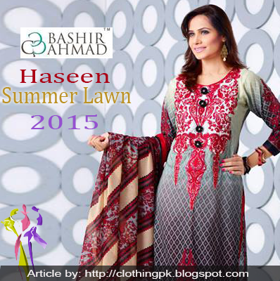 Haseen Summer Lawn 2015 Collection by Bashir Ahmed