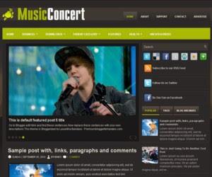 MusicConcert Blogger Template