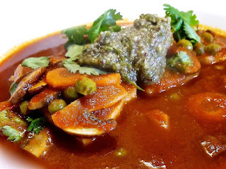 Haddock in Tomato Sauce with Sumac Pesto