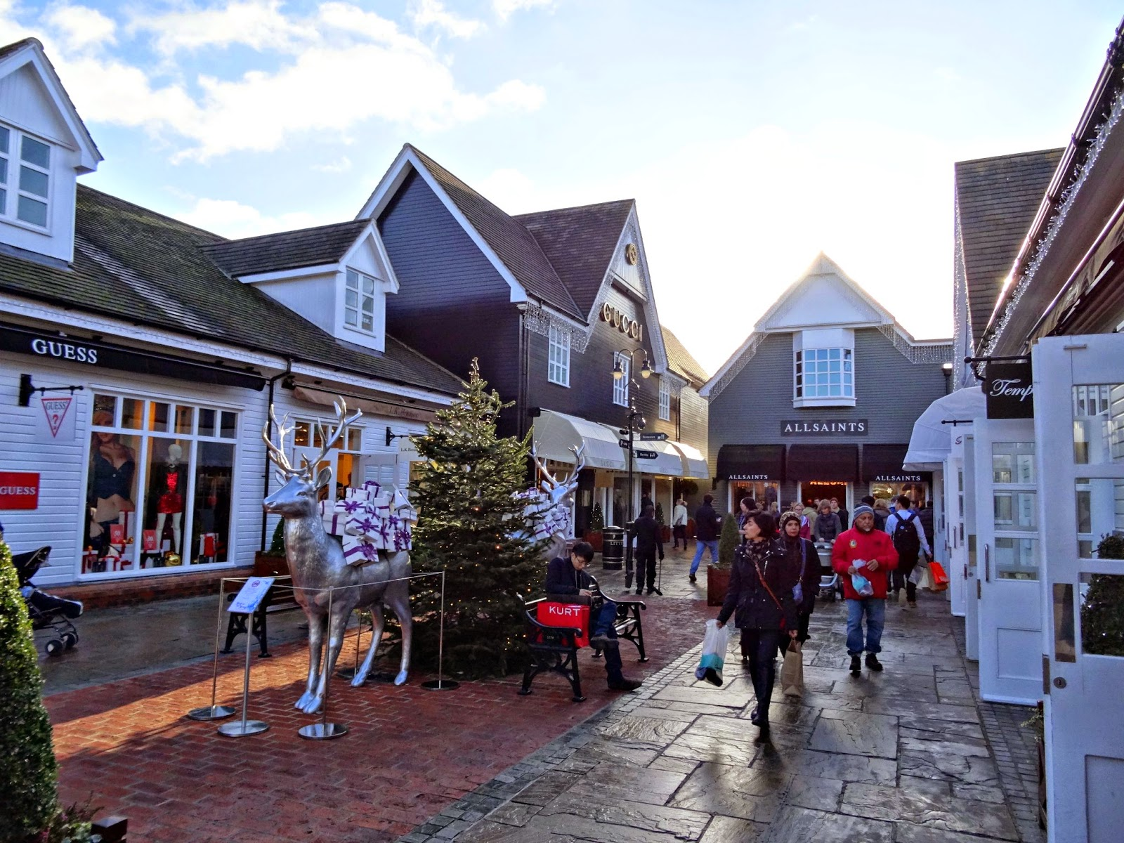Christmas decoration at Bicester Village