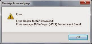 error download