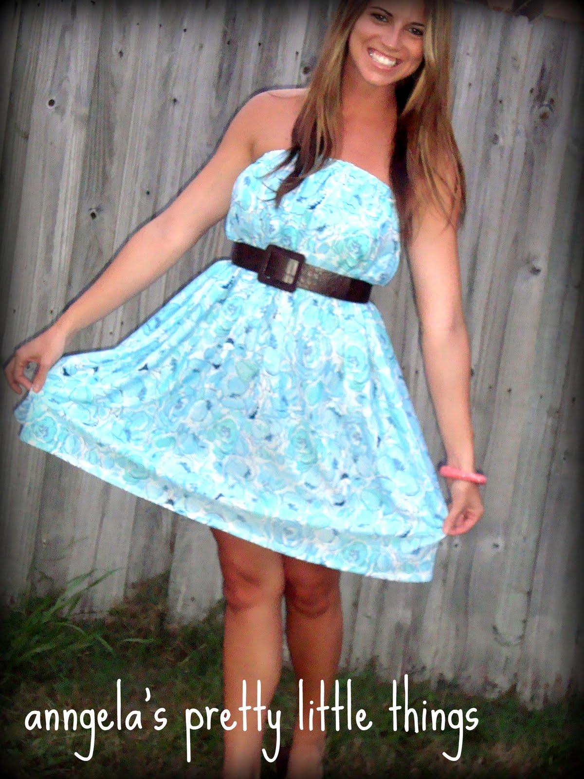 Simple Strapless Dress Pattern