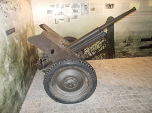 Soviet guns used in liberation of Krakow from Nazi Germany in World War-II