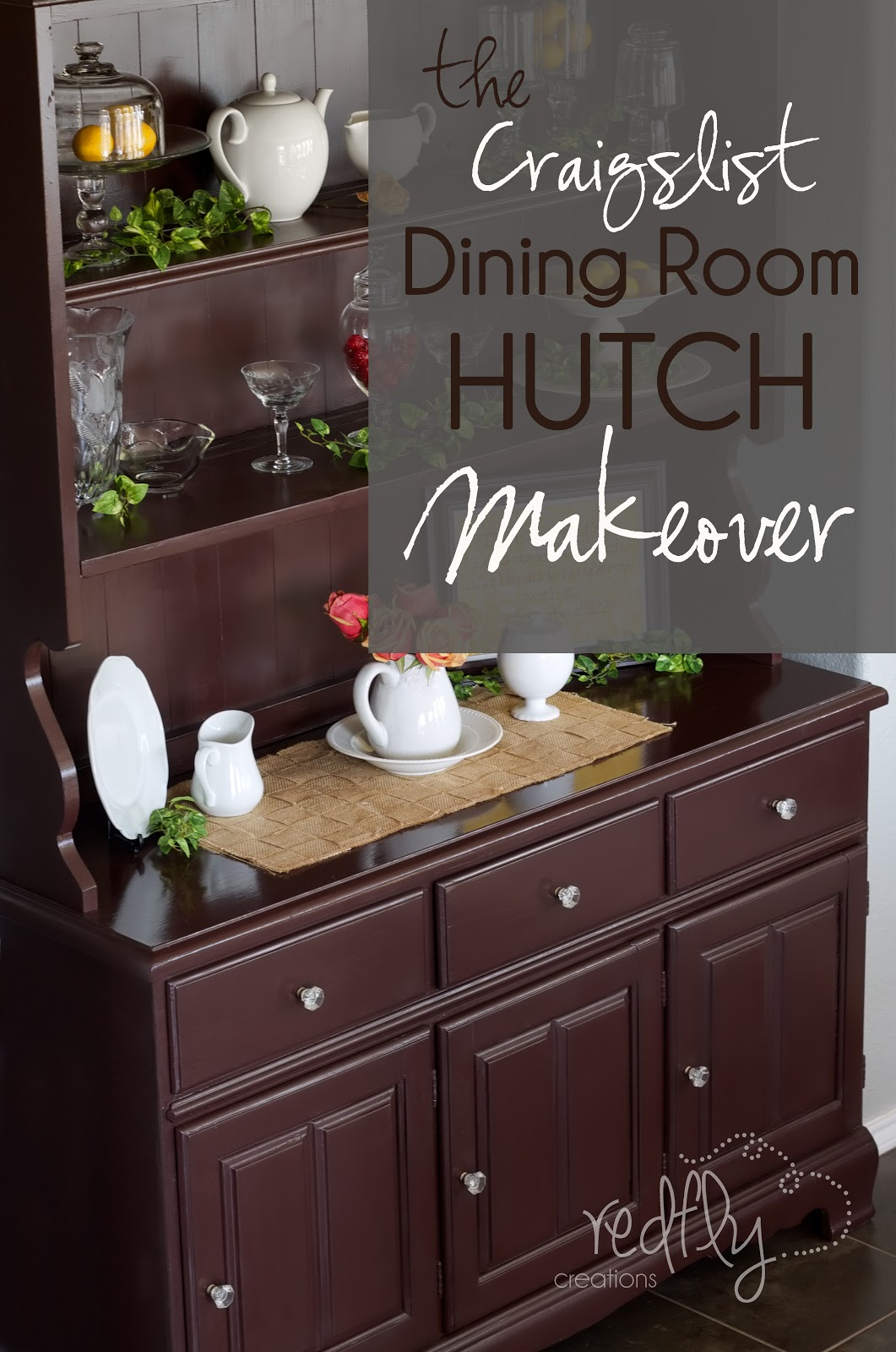 Redfly Creations: The Craigslist Hutch Makeover