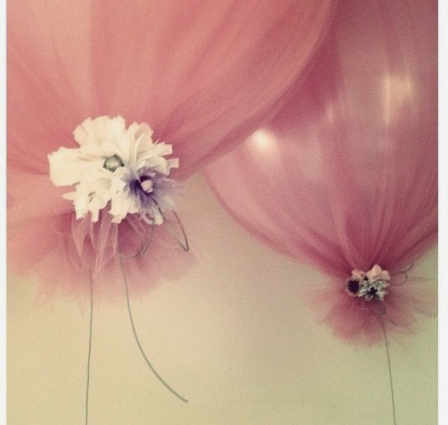 Baby Shower Balloons with Tulle 635 x 603