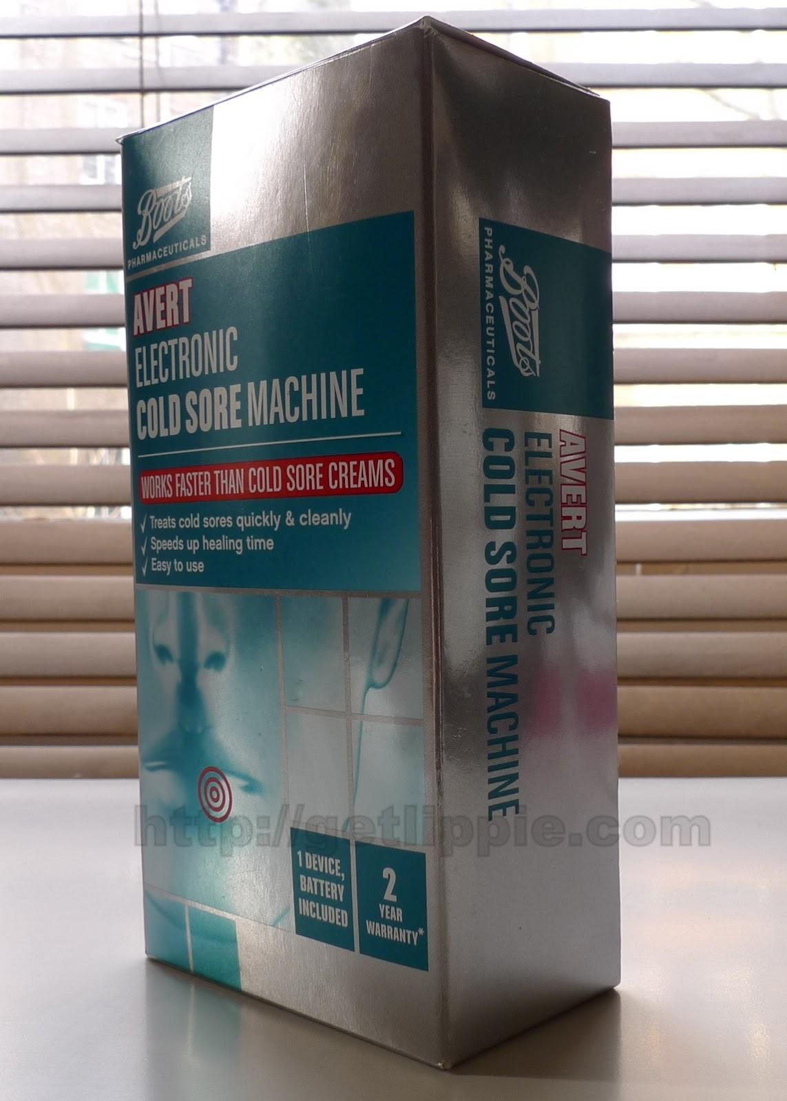 avert electronic cold sore machine