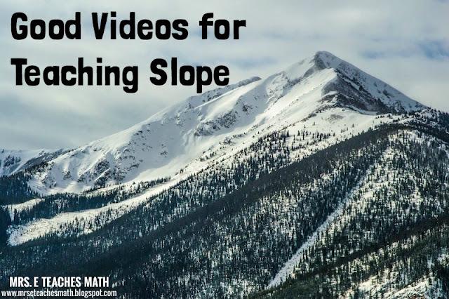 4 Good Videos for Teaching Slope